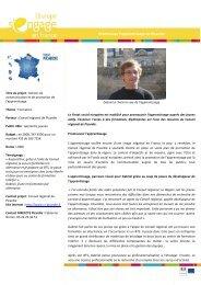 Télécharger la fiche projet - Fonds Social Européen en France