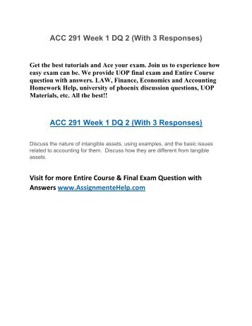 acc 291 week 1 Acc 291-week 4 assignment ::true acc 291-week 4 assignment question 1 indicate whether each of the following statements is true or false 1 lhe corporation is an entity separate and distinct from its owners.