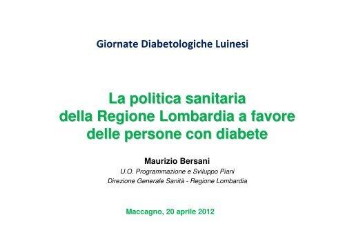 La politica sanitaria della Regione Lombardia a favore delle ...