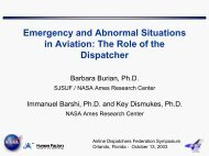Emergency and Abnormal Situations in Aviation - Human Factors ...