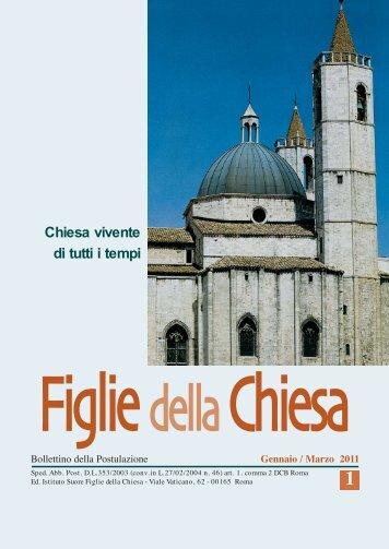 Bollettino N.1-2011 :Layout 1 - Figlie della Chiesa