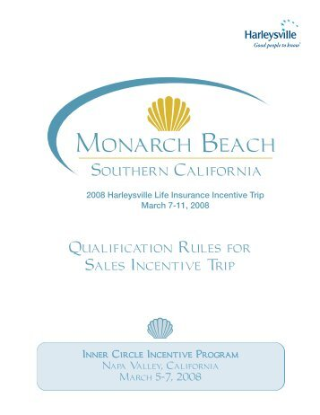 Qualification Rules for Sales Incentive Trip - Harleysville Insurance