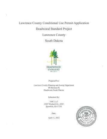 Application and all supporting documentation - Lawrence County