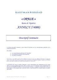 « OPALE » ANNECY (74000) - Kaufman & Broad