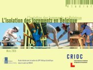 L'isolation des logements en Belgique - Crioc
