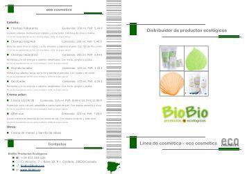 eco cosmetics - BioBio Productos Ecológicos
