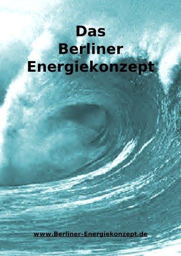 Das Berliner Energiekonzept