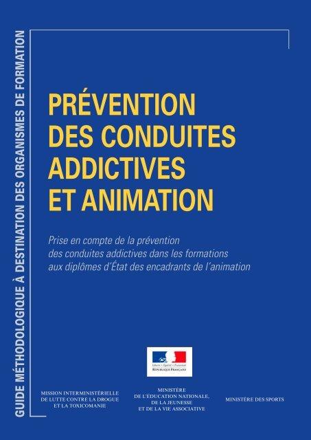 prévention des conduites addictives et animation - Jeunes.gouv.fr