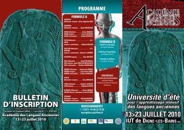 Flyer Ala-2010 - Université de provence