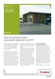 Elfac A/S Elfac A/S optimerer driften og reducerer ... - DOKIT.dk