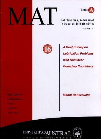 MAT - Universidad Austral
