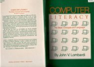 Computer Literacy: the Basic Concepts and Language - Jvlone.com