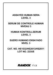 assayed human sera level 3 serum de controle humain niveau 3 ...