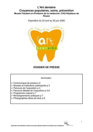 L'Art dentaire Croyances populaires, soins ... - CHU de Rouen