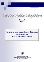 Achieving Universal Health Coverage