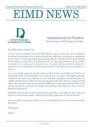 EIMD Bulletin #1 - March 2010