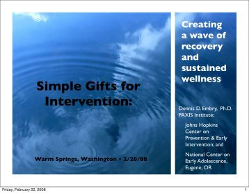 Creating a Wave of Recovery and Sustained Wellness