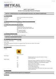 SAFETY DATA SHEET De-Solv-It Universal Stain Remover ...