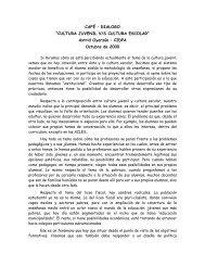 CAFE DIALOGO OCTUBRE 2000 - Inicio