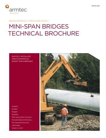 Mini-span Bridges / technical guide - Armtec