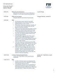 CAC Meeting Minutes: April 15, 2011 - Florida International University