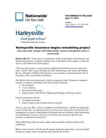 Harleysville Insurance begins remodeling project