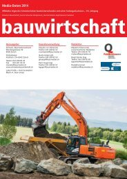 Mediadaten 2014 - Schweizer Bauwirtschaft