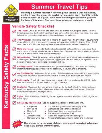 ?Vehicle Safety Checklist