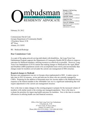 State Long-Term Care Ombudsman - Georgians for a Healthy Future