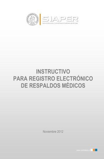 Instructivo Respaldo Médico - siaper - Contraloría General de la ...
