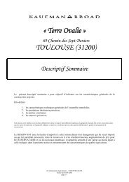 « Terre Ovalie » TOULOUSE (31200) - Kaufman & Broad