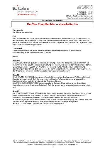 Faxanmeldeformular - 2012 - Bauakademie Wien