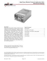 High Power Modular Products Application Note - Robot MarketPlace