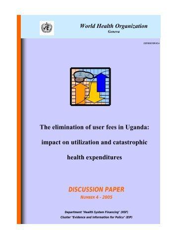 The elimination of user fees in Uganda - World Health Organization