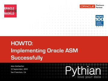 HOWTO: Implementing Oracle ASM Successfully