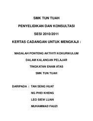 SMK TUN TUAH PENYELIDIKAN DAN KONSULTASI SESI 2010 ...