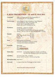 9. KON-TIKI-RENNEN – 14. und 15. MAI 2011