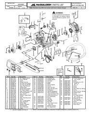 McCulloch MAC 838 (8-38) Chainsaw - Barrett Small Engine