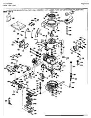 Diagram(s) and/or PartsList(s) - Barrett Small Engine