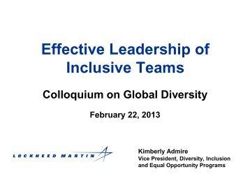 Kimberly Admire, Vice President, Global Diversity ... - GlobeWomen