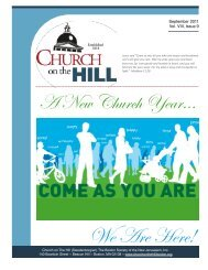 September 2011 - Church On The Hill