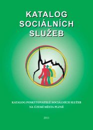 Služby pro seniory - Sociální služby města PLZNĚ - Město Plzeň