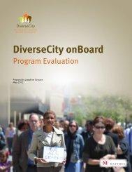 DiverseCity onBoard program evaluation - DiverseCity Toronto