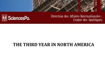 the third year in north america - Centre des Amériques - Sciences Po