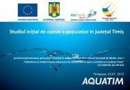 Studiu de opinie clienţi - Aquatim