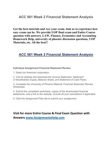 Comparative and Common Size Financial Statements Analysis