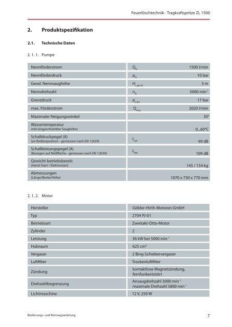 Bedienungsanleitung ZL 1500 - KFV-OSL