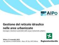 Gestione sostenibile delle acque meteoriche urbane