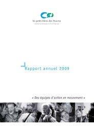 Rapport annuel et comptes combinés des petits frères des Pauvres