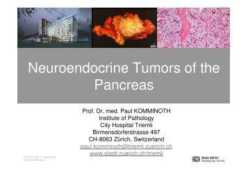 Neuroendocrine Tumors of the Pancreas